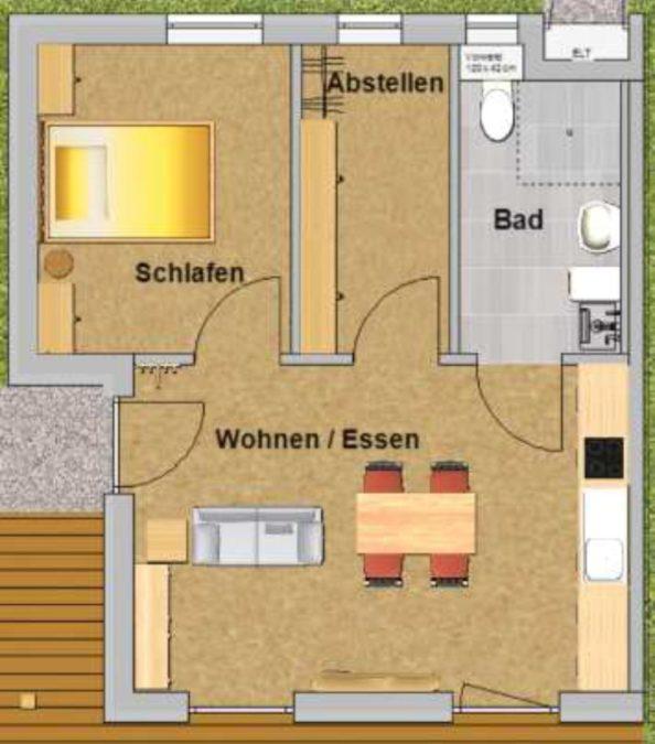 bungalow 45er Komfort - innen