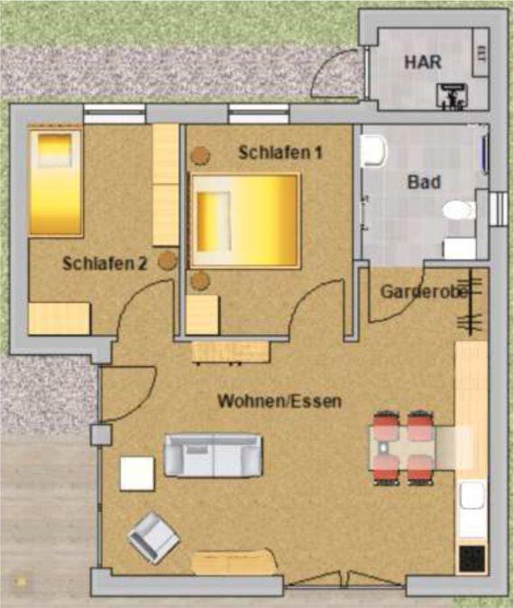 bungalow 61er Komfort - innen